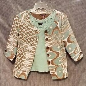 Multiples Jacket with Matching Sleeveless Top